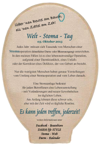 Welt-Stoma-Tag 2015 - Flyer