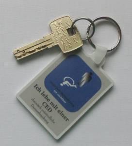 WC- Schlüssel mit Anhänger