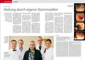Artikel: Heilung durch eigene Stammzellen - ampuls Magazin - Ausgabe 1/2012